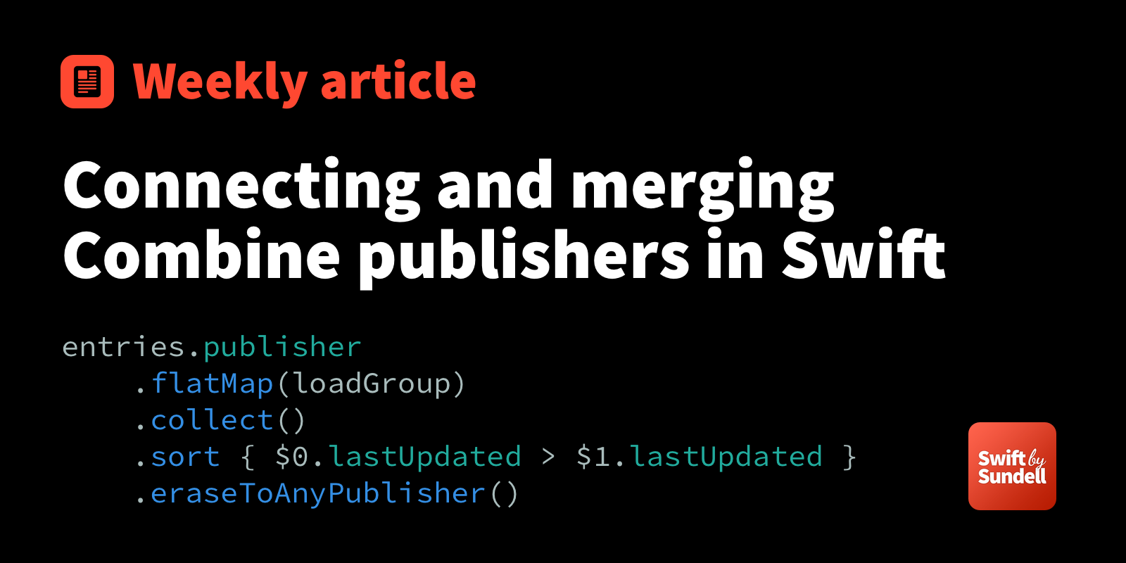 Connecting and merging Combine publishers in Swift