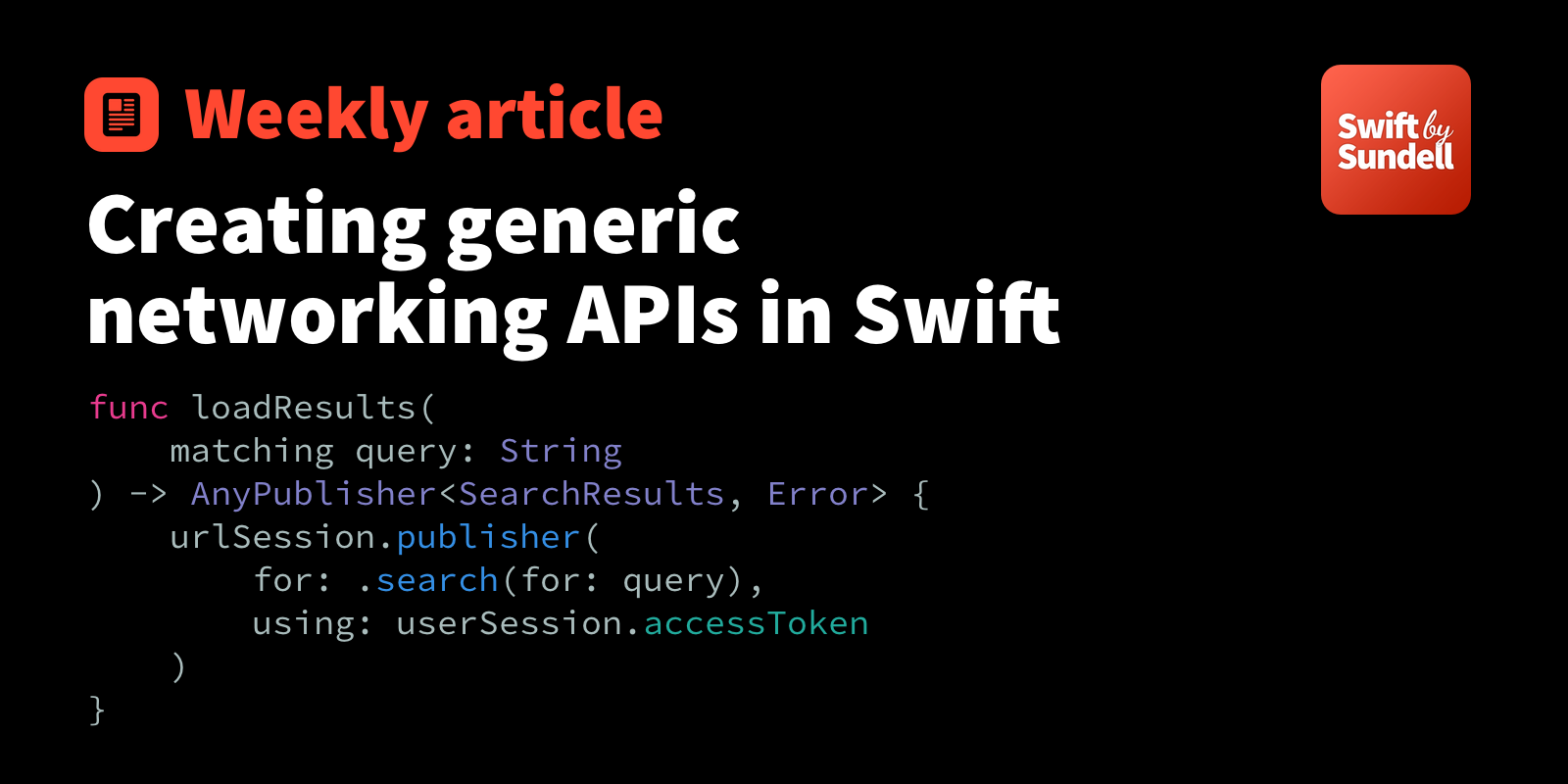 Creating generic networking APIs in Swift | Swift by Sundell