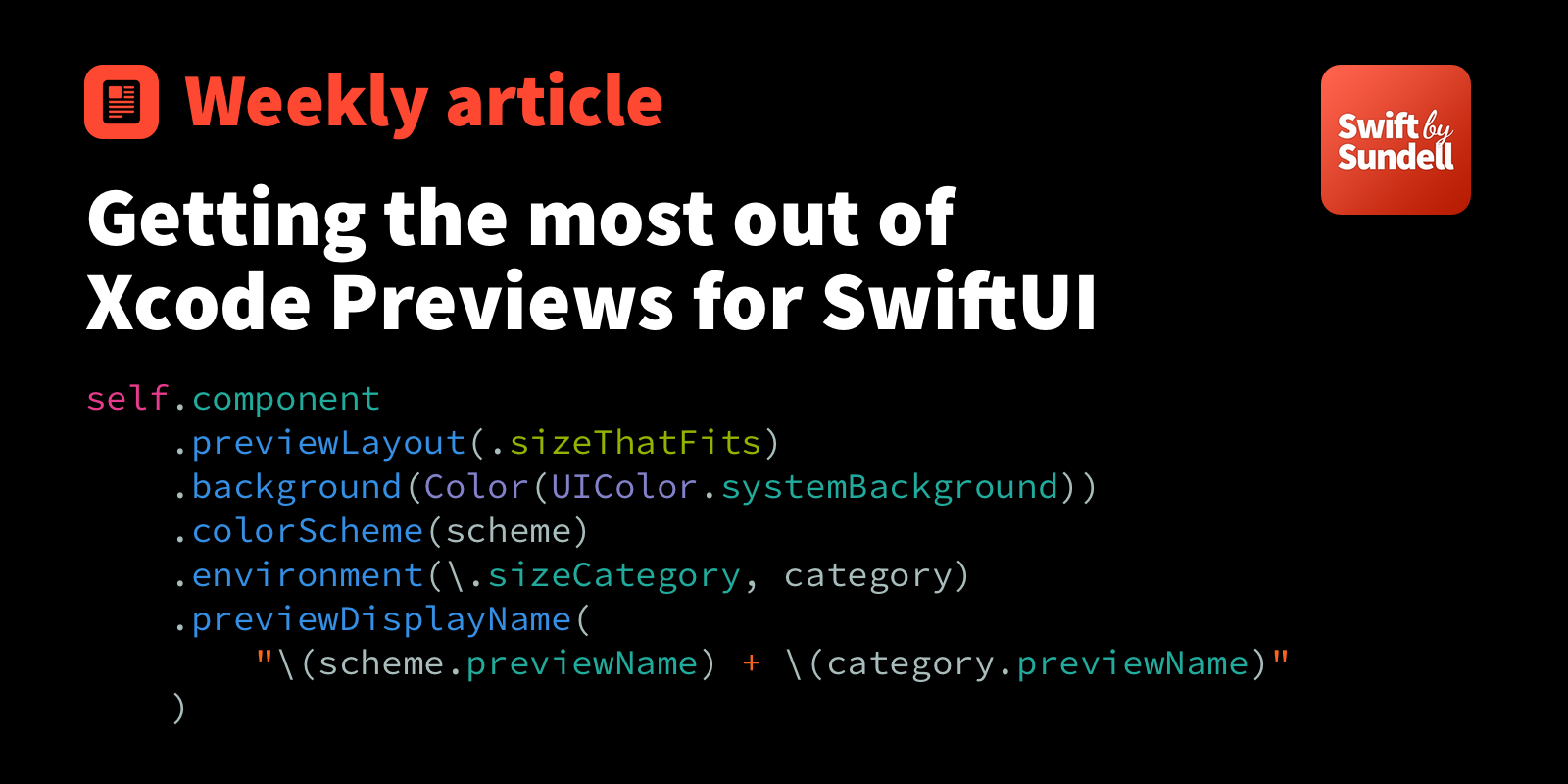 Getting the most out of Xcode Previews for SwiftUI | Swift by Sundell