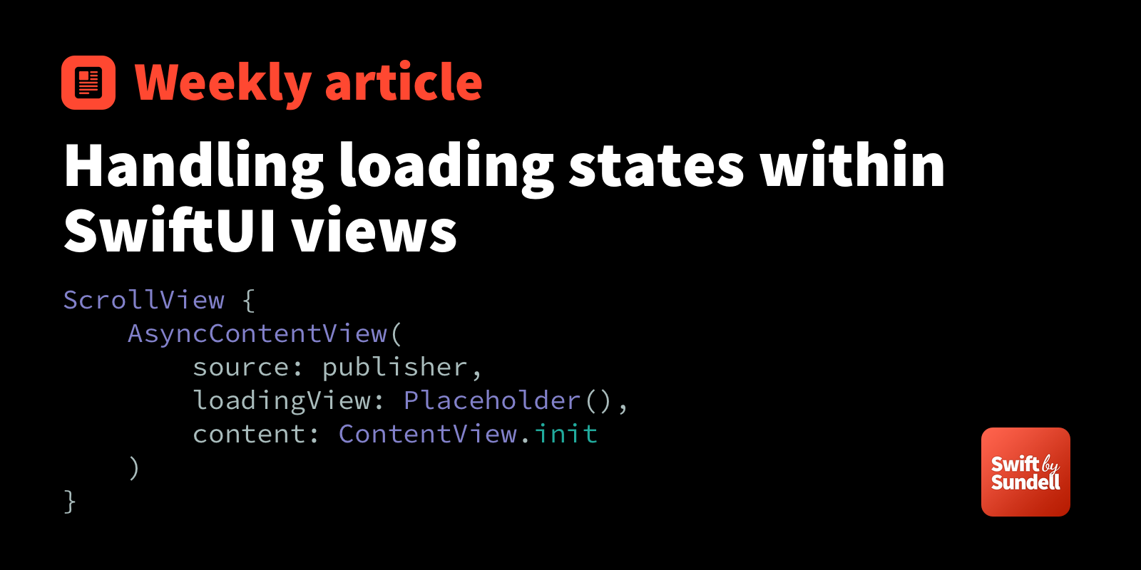 Handling loading states within SwiftUI views | Swift by Sundell