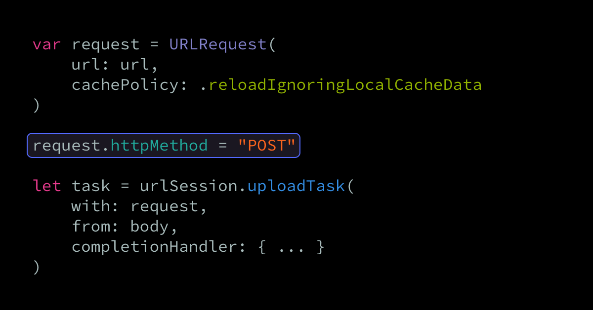 Performing POST and file upload requests using URLSession