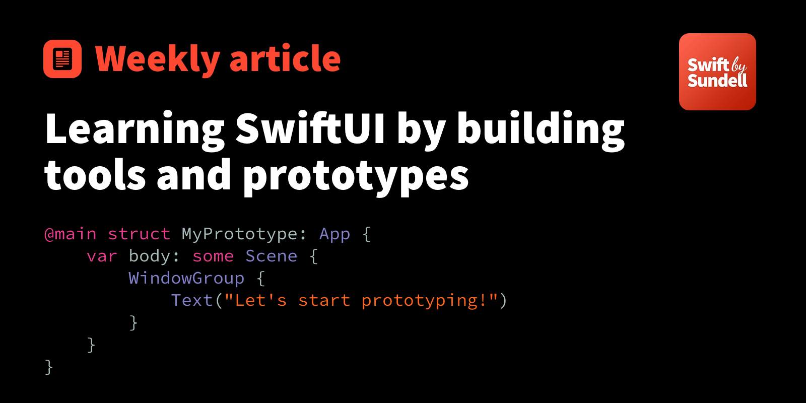 Learning SwiftUI by building tools and prototypes