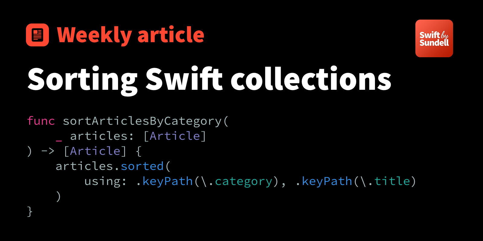 Sorting Swift collections