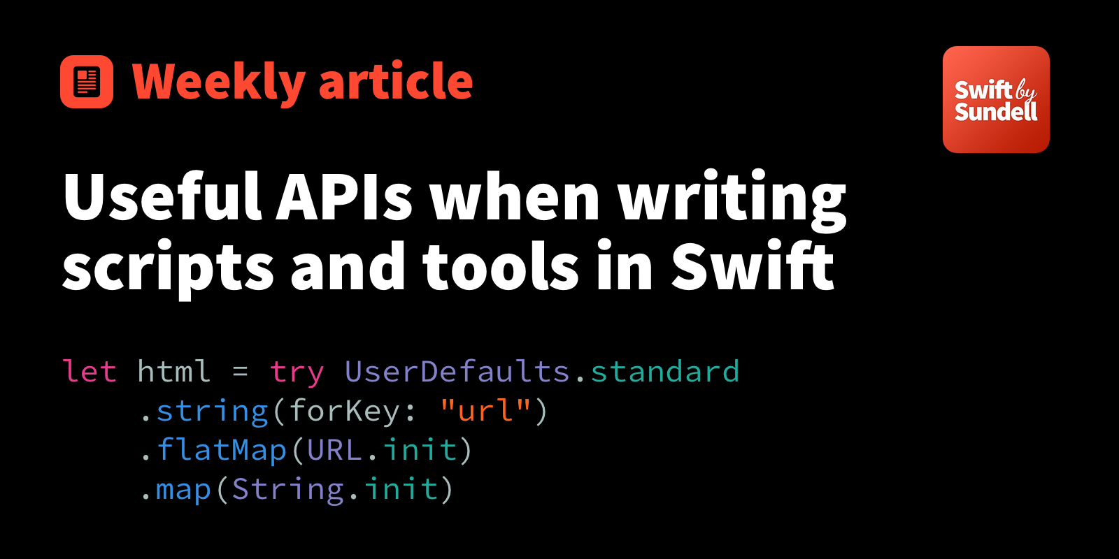 Useful APIs when writing scripts and tools in Swift