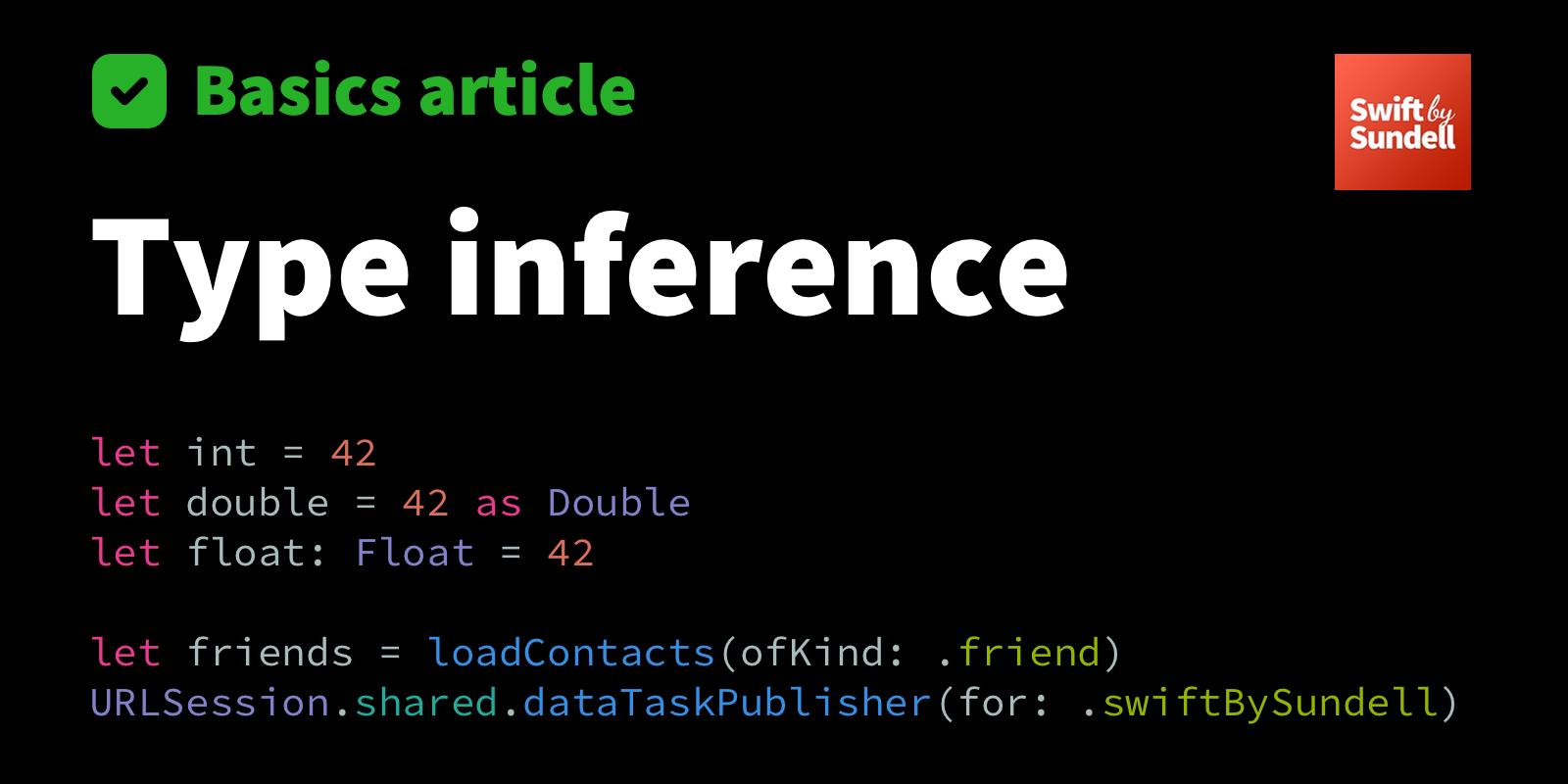 Basics: Type inference