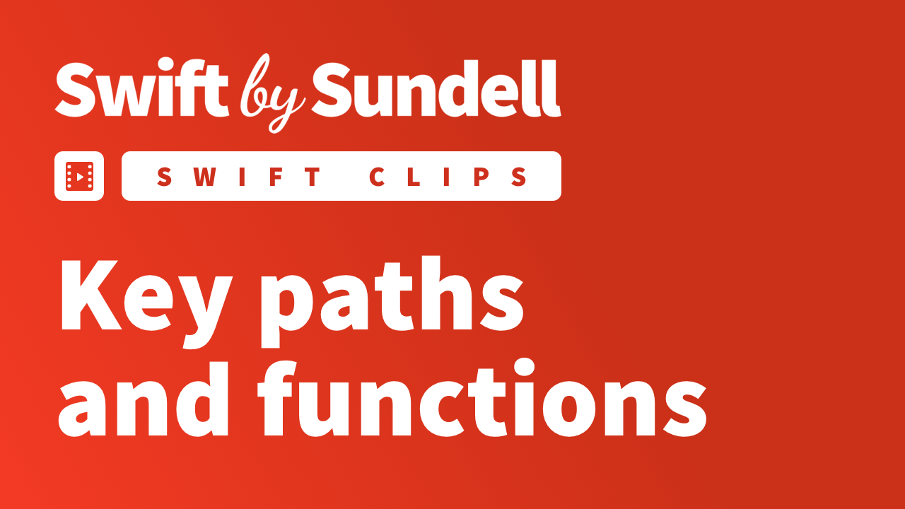 Video: Key paths and functions
