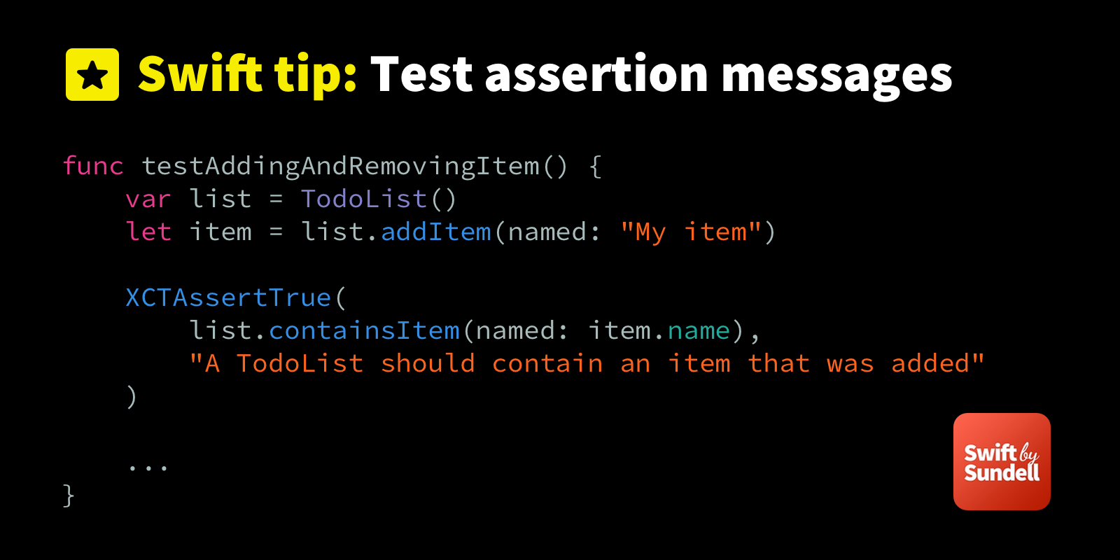 Tip: Using test assertion messages as comments